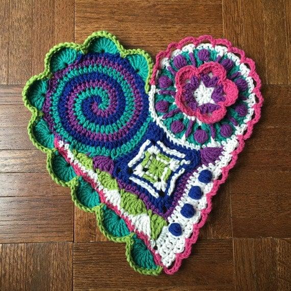 Freeform Crochet Pattern Tutorial Crochet Heart Pattern