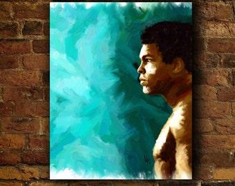 Muhammad Ali Boxing Print Cassius Clay Muhammad Ali print ali muhammad ali poster art wall art poster muhammad ali art the greatest muhammad