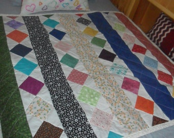 Diamonds and Stripes Baby Blanket