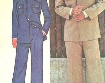 McCall's vintage sewing pattern - Men's leisure suit - Chest size 38