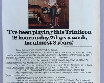 1972 Sony Trinitron TV Print Ad