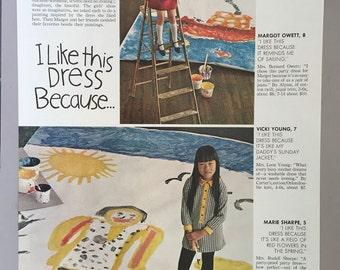 1968 Girl's Dresses Print Sheet - Fashions by Shutterbug, Carter's, Alyssa, Joseph Love, Kate Greenaway