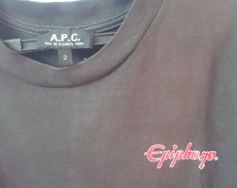Rare//A.P.C X Epiphone Guitar//The Mark Of A Great Guitarist//Collaboration//Tshirt//Size 2//Made in France