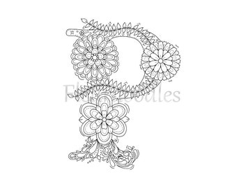 Adult Coloring Book Of Floral Numbers 0 To 9 Printable