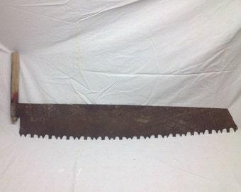 one man crosscut saw. antique lumberjack crosscut one man logging saw - rusty patina lumber jack cross cut felling i