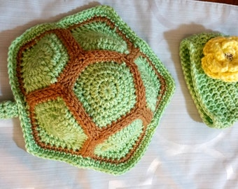 Crochet Baby Turtle Shell and Hat for new born baby photo