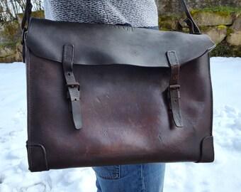 VintageFrench SNCF French Railway workers shoulder bag /Laptop bag /Weekender bag/ Messenger bag / Tool bag / School bag /