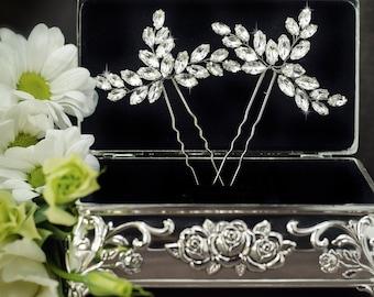 rhinestone hair pins, crystal hair pins, bridal hair pins, bridal bobby pins, wedding hair pins, crystal bobby pins, rhinestone bobby pins
