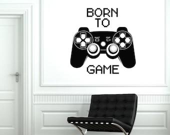 Wall Art Mural Gaming Born To Game Gamer Guaranteed Quality Decor 2052di