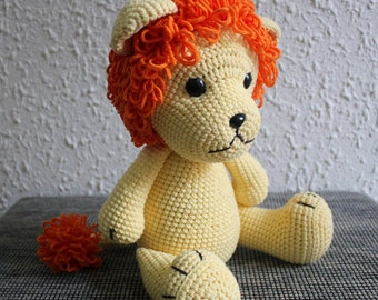 Handmade Crochet Lion, Lion Plush Toy, Stuffed Animal