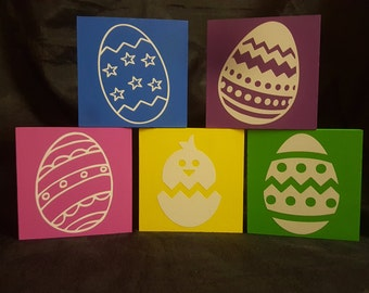 Easter Egg Blocks - Set of 5