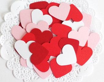 Red Heart Confetti, Red Wedding Confetti, Valentine's Day Heart Confetti, Love is Sweet, Heart Die Cuts, Party Confetti