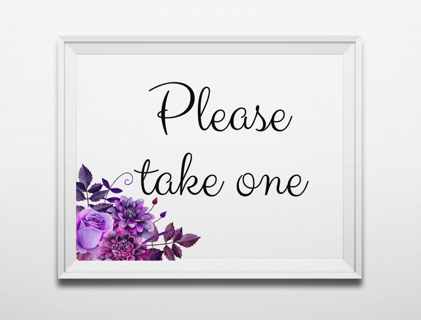 Current image with regard to please take one sign printable