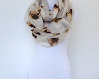 Infinity Scarf, Summer Scarf, Fashion Scarf, Gift For Her, Women's Scarf, Shawls, Scarves for Women, Animal Print Scarf ,