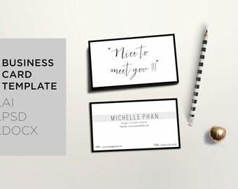 Modern business card template / Creative calling card design / Minimal business card design