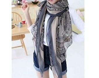 Seasonal Sales For ALL SCARVES * Pretty elegant scarf, women fashion long wrap, shawl cotton voile scarf, spring scarf, summer, autumn scarf