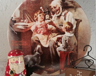 1977 Norman Rockwell The Toy Maker collectible plate, Collectible Christmas Plate,  Norman Rockwell Christmas, Rockwell Heritage Collection