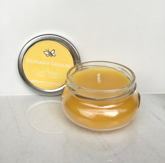Pure Beeswax Glass Jar Candle Organic Beeswax Air Purifier