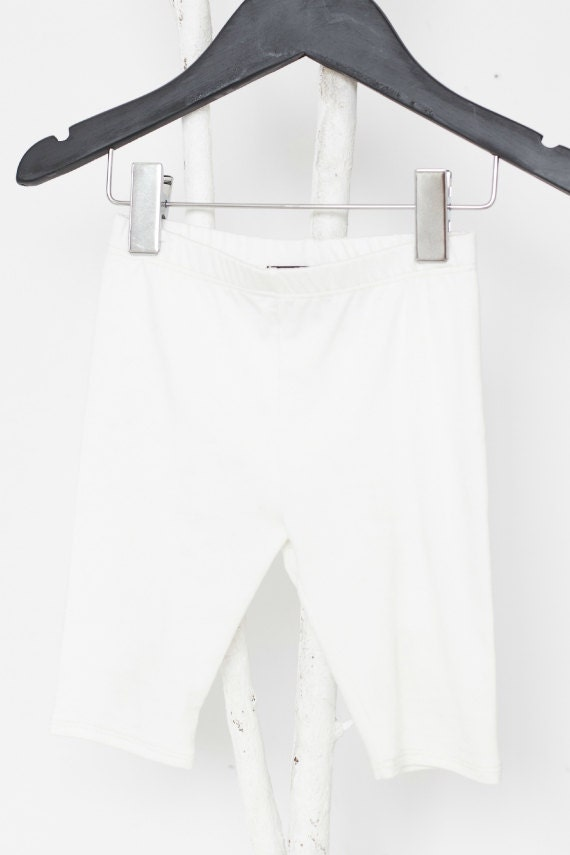 LOLLYPOP - plain 3/4-lenght legging for kids - ivory white