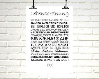 "Print / Druck ""Life rules"""