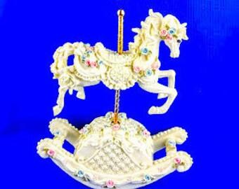 Carousel Rocking Horse Music Box