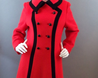 Sale Vintage 1960s retro mod space age bright coat