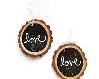 Love Wood Ornament