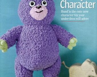 13 inch Humf Toy Knitting Pattern  -     PDF Download