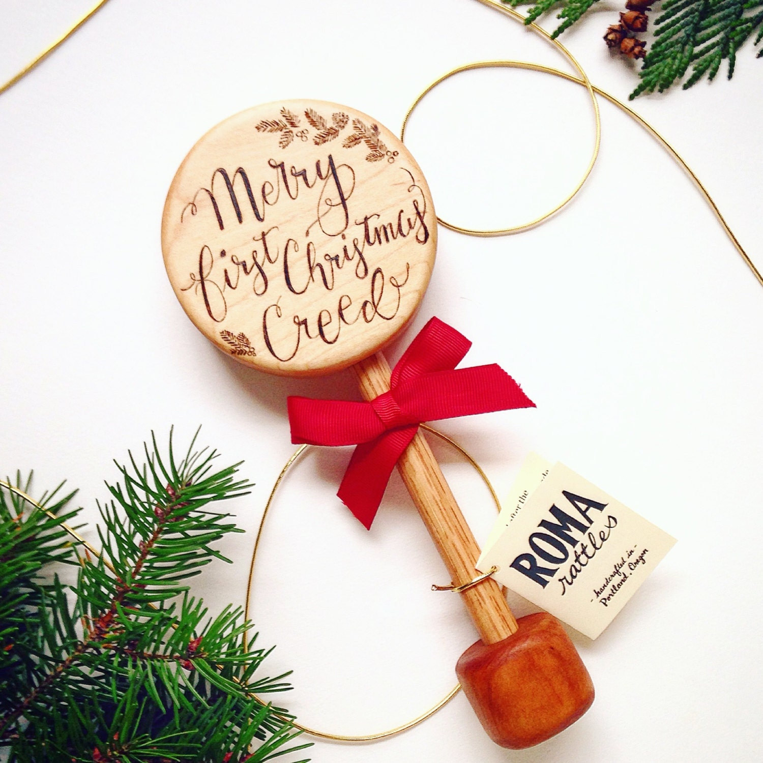 Personalized Baby's First Christmas Gift Keepsake Wooden