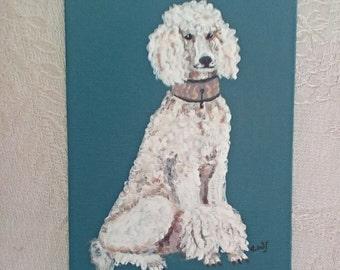 Original Poodle Painting