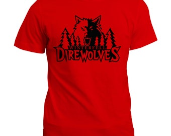 Winterfell Direwolf T-Shirt - Game of Thrones Direwolves Tee Top