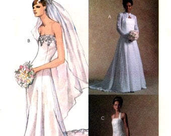2005 McCall's 4776 Bride's/Bridal/Wedding/Bridesmaid Shrug and Dresses, Uncut, Factory Folded Sewing Pattern Size 4-10