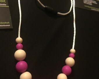 Necklace silicone/teething necklace - Mila