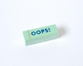 OOPS Eraser - Funny Eraser - Funny Stationery - Petit Bout de France