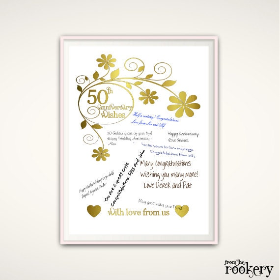 List Of 50th Wedding Anniversary Gifts : 50th Anniversary Print - 50th Anniversary Gifts for Parents, Wedding ...