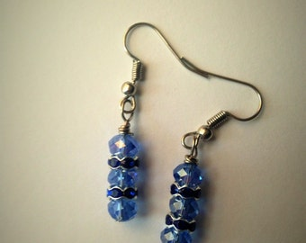 Chase Your Blues Away Blue Drop Earrings