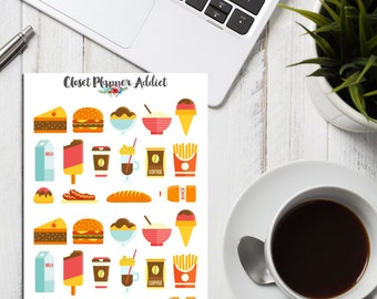 Fast Food And Snacks Collection Planner Stickers (S-008)