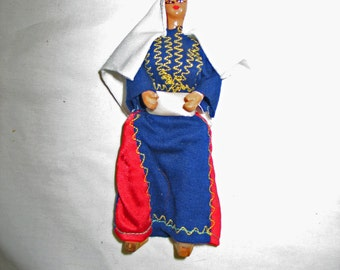 "Holy Land Bethlehem 7 1/4"" Wooden Man Doll"