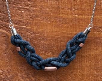 Braid grey & triple pipe copper