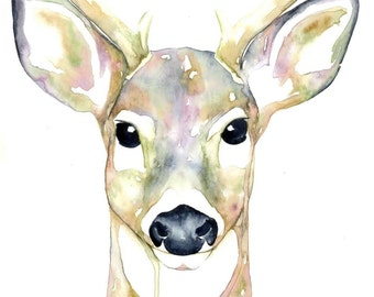 Buck Deer Watercolour Print