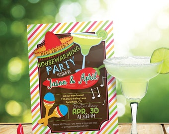 Fiesta Housewarming Party Invitation - Personalized Printable DIGITAL FILE
