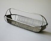 Vintage silverplate wire basket for bread or fruit