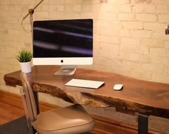 Live Edge Wood Table & Desk - Live Edge Table - Wood Slab Desk Table - Live Edge Slab Dining Table - Wood Slab Table - Wood Desk Top Slab