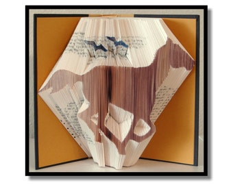 Folded Book Art: Horse with Birds