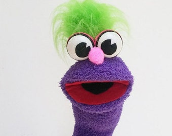 Hand Puppet - Green hair Sock Puppet
