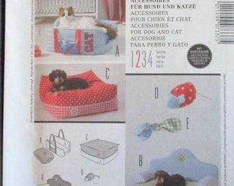 Burda Accessories pattern, new, dog bed, 3 variations of pet bed, cat toy, dog toy