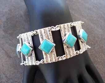 Hand made Turquoise link bracelet