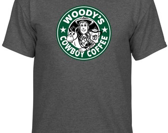 Disney Inspired Toy Story Woody's Cowboy Coffee Starbucks Custom Vacation Shirt