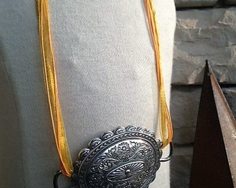 Belt Buckle Statement Necklace