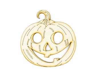 Jack-O-Lantern - Halloween Laser Cut Craft Supply - 1qty - 4 x 3.9 Inch (10.16 x 9.91cm) Jack-O-Lantern Design